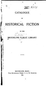 Cover of: Catalogue of Historical Fiction in the Library |
