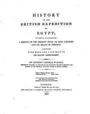 Cover of: History of the British Expedition to Egypt: To which is Subjoined, a Sketch ... |