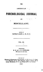 Cover of: The Phrenological Journal and Science of Health |