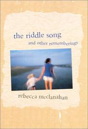 Cover of: The riddle song & other rememberings