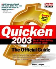 Cover of: Quicken(R) 2003: The Official Guide