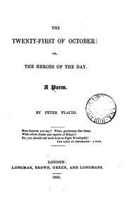 Cover of: The twenty-first of October: or, The heroes of the day, a poem |