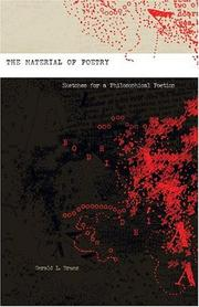 Cover of: The material of poetry