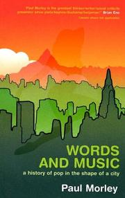 Cover of: Words and music | Paul Morley