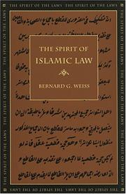 Cover of: The Spirit of Islamic Law (The Spirit of the Laws) (The Spirit of the Laws)