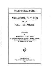 Cover of: Analytical Outlines of the Old Testament: A Hand-book for Bible Training ... |