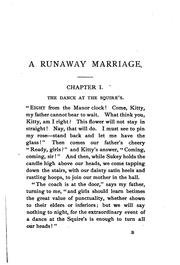 Cover of: A Runaway Marriage |