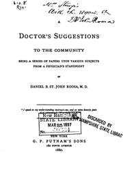 Cover of: A Doctor