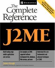 Cover of: J2ME: The Complete Reference