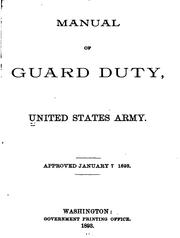 Cover of: Manual of Guard Duty, United States Army |