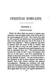 Cover of: Christian home-life, a book of examples and principles [by S.S. Pugh]. |