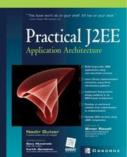 Cover of: Practical J2EE Application Architecture | Nadir Gulzar