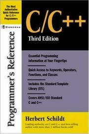 Cover of: C/C++ Programmer's Reference