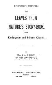 Cover of: Introduction to Leaves from Nature