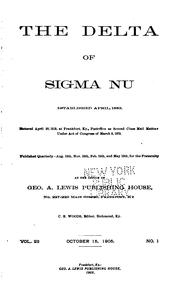 Cover of: The Delta of Sigma Nu Fraternity |