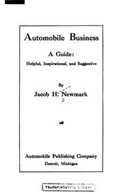 Cover of: Automobile Business: A Guide |