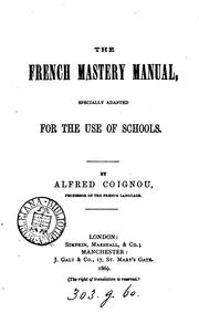 Cover of: The French mastery manual |