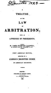 Cover of: A Treatise of the Law of Arbitration: With an Appendix of Precedents |