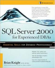 Cover of: SQL server 2000 for experienced DBAs | Knight, Brian
