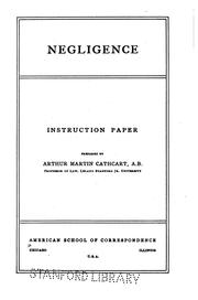 Negligence: Instruction Paper