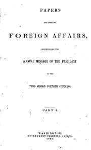 Cover of: Papers Relating to Foreign Affairs |