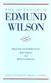 Cover of: From the uncollected Edmund Wilson