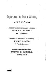 Cover of: Directory of the Public Schools ... |