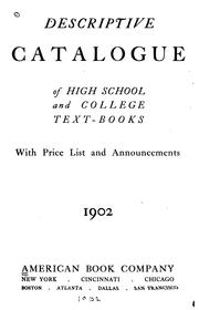 Cover of: Descriptive Catalogue of High School and College Textbooks: With Price List and Announcements |