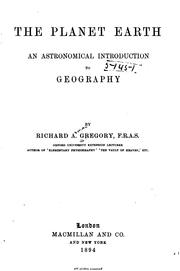 Cover of: The Planet Earth: An Astronomical Introduction to Geography |
