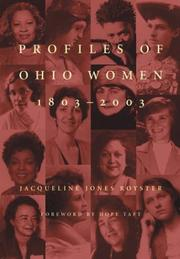 Cover of: Profiles of Ohio women, 1803-2003