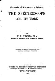 Cover of: The Spectroscope and Its Work |