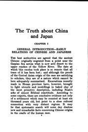 Cover of: The Truth about China and Japan |