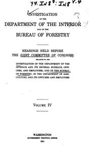 Investigation of the Department of the Interior and of the Bureau of ...
