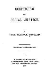 Cover of: Scepticism and Social Justice |