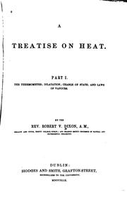 Cover of: A Treatise on Heat |