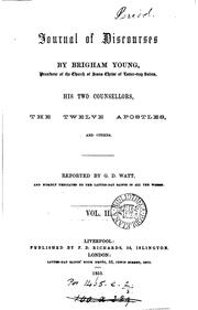 Cover of: Journal of Discoursee by Brigham Young |
