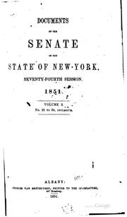 Cover of: Documents of the Senate of the State of New York |
