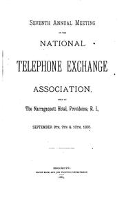 Cover of: Meeting of the National Telephone Exchange Association |