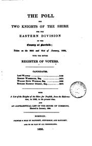 Cover of: The poll for two knights of the shire for the eastern division of the county of Norfolk; January ... |