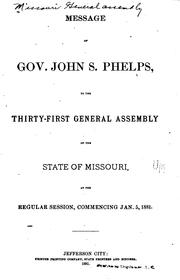 Cover of: Appendix to the House and Senate Journals of the ... Session of the ... |