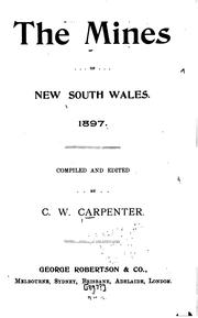 Cover of: The Mines of New South Wales. 1897 |