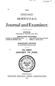 Cover of: The Chicago Medical Journal and Examiner |