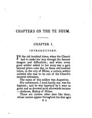Cover of: Chapters on the Te Deum, by the author of