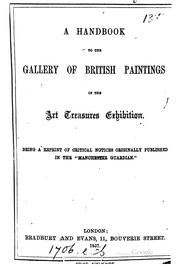 Cover of: A Handbook to the Gallery of British Paintings in the Art Treasures ... |