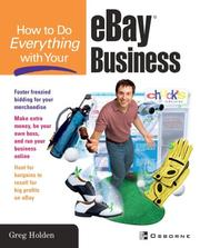 Cover of: How to do everything with your eBay business