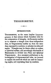 Cover of: Manual of plane trigonometry, by J.A. Galbraith and S. Haughton |