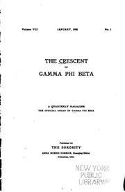 Cover of: The Crescent of Gamma Phi Beta |
