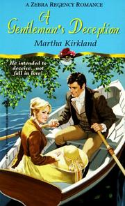 Cover of: A gentleman's deception