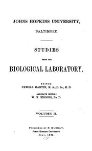 Cover of: STUDIES FROM THE BIOLOGICAL LABORATORY by