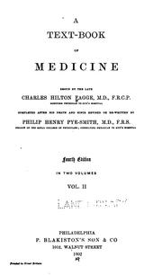 Cover of: A Text-book of medicine v. 2
